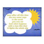 Amor de Sun para la tierra por Hafiz Tarjetas Postales