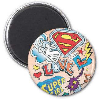 Amor de Supergirl Imán De Nevera