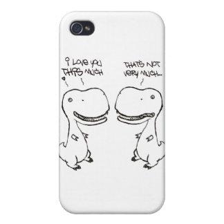 Amor de T-rex iPhone 4 Carcasas
