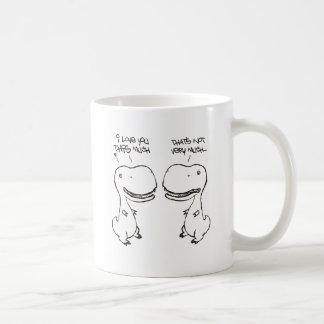 Amor de T-rex Tazas De Café