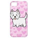 Amor de Terrier blanco de montaña del oeste iPhone 5 Fundas