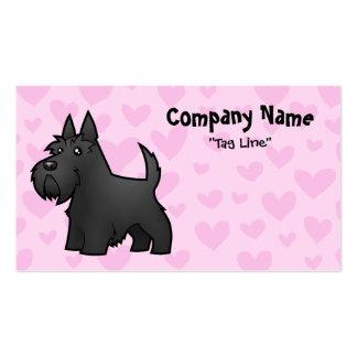 Amor de Terrier del escocés Plantilla De Tarjeta Personal