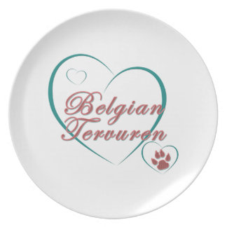 Amor de Tervuren del belga Platos De Comidas