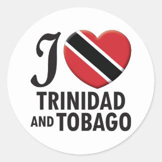 Amor de Trinidad and Tobago Etiquetas Redondas