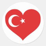 Amor de Turkiye Pegatinas Redondas