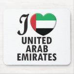 Amor de United Arab Emirates Alfombrilla De Raton