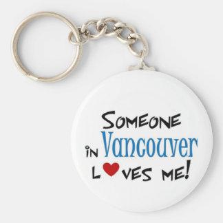 Amor de Vancouver Llavero Redondo Tipo Pin