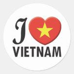 Amor de Vietnam Etiqueta Redonda