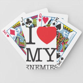 Amor de Wellcoda I mi odio del corazón de la Baraja Cartas De Poker