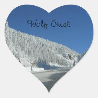 Amor de Wolf Creek Pegatina En Forma De Corazón