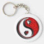 Amor de Ying Yang Llaveros Personalizados