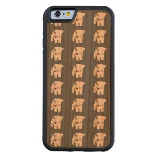 Amor de Yorkiepoo (Yorkie/caniche) Funda De iPhone 6 Bumper Cerezo