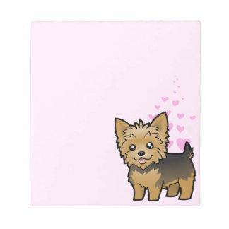 Amor de Yorkshire Terrier (pelo corto ningún arco) Blocs