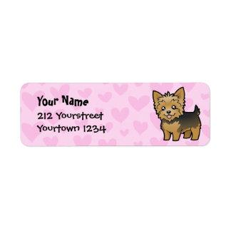 Amor de Yorkshire Terrier (pelo corto ningún arco) Etiqueta De Remite