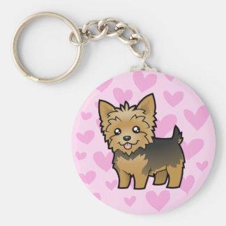 Amor de Yorkshire Terrier (pelo corto ningún arco) Llaveros