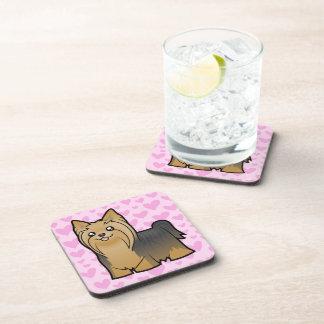 Amor de Yorkshire Terrier (pelo largo ningún arco) Posavasos De Bebidas