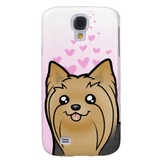 Amor de Yorkshire Terrier (pelo largo ningún arco) Samsung Galaxy S4 Cover