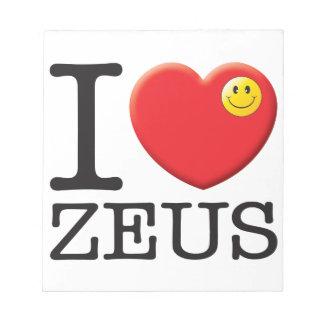 Amor de Zeus Bloc De Notas
