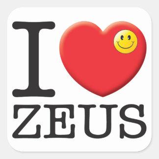 Amor de Zeus Calcomania Cuadrada Personalizada