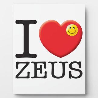 Amor de Zeus Placa