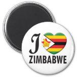 Amor de Zimbabwe Imán Para Frigorífico