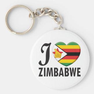 Amor de Zimbabwe Llavero Personalizado