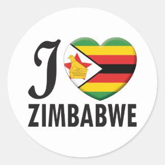 Amor de Zimbabwe Pegatina