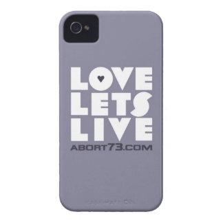 Amor deja vivo Abort73 com de la pizarra iPhone 4 Carcasas
