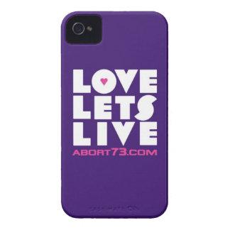 Amor deja vivo (púrpura)/Abort73.com Case-Mate iPhone 4 Cárcasas