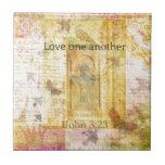 amor del 3:23   1John un otro SCRPTURE Azulejos