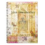 amor del 3:23   1John un otro SCRPTURE Libros De Apuntes Con Espiral