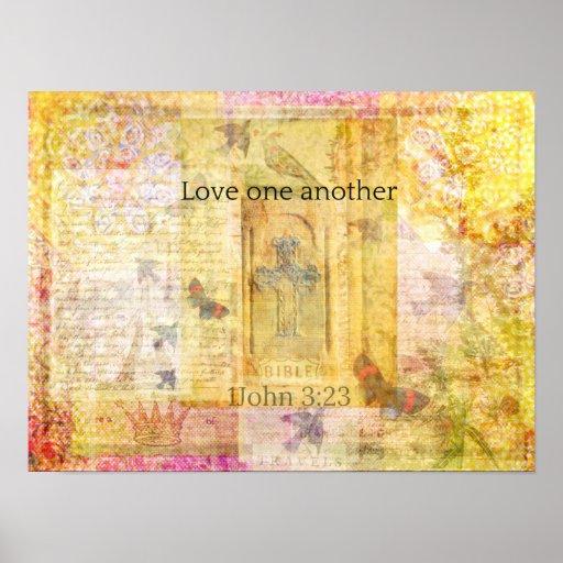 amor del 3:23 1John un otro VERSO de la BIBLIA Posters