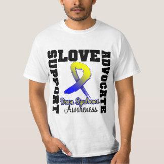 Amor del abogado de la ayuda de Síndrome de Down Camisas