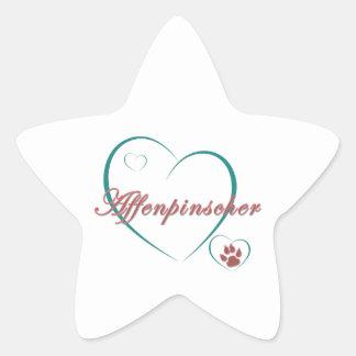 Amor del Affenpinscher Calcomanía Cuadrada Personalizada