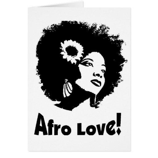 Amor del Afro Tarjeta De Felicitación