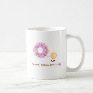 Amor del agujero del buñuelo taza clásica