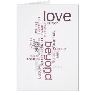 Amor del alma tarjeta pequeña