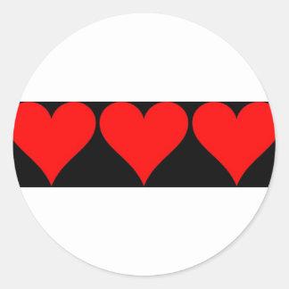 Amor del amor del amor etiqueta redonda