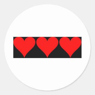 Amor del amor del amor etiquetas redondas