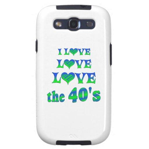 Amor del amor los años 40 samsung galaxy s3 carcasas