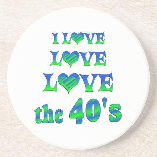 Amor del amor los años 40 posavasos manualidades