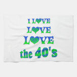 Amor del amor los años 40 toalla