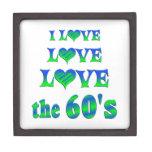 Amor del amor los años 60 caja de regalo de calidad