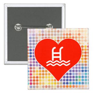 Amor del amor pin cuadrada 5 cm