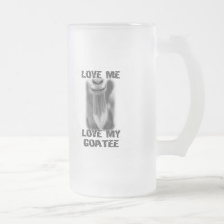 Amor del animal del campo del mascota de la cabra taza de cristal