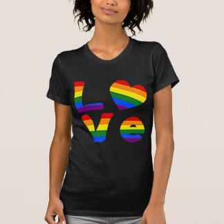 AMOR del arco iris del orgullo gay Playera