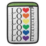 Amor del arco iris fundas para iPads