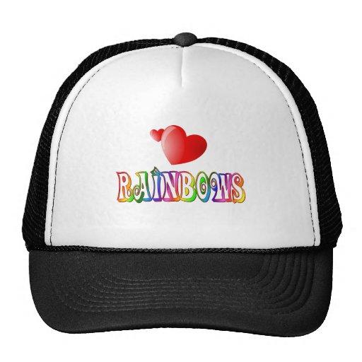 Amor del arco iris gorra