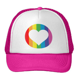 amor del arco iris gorros bordados