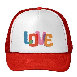 Amor del arco iris gorros